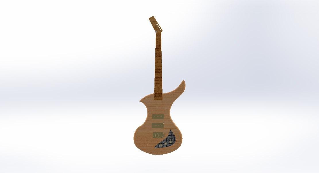 electric guitar bass 3D model