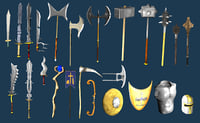 medieval fantasy weapons model