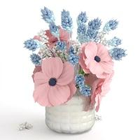 anemone bouquet 3D model