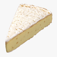 brie cheese piece 3D model