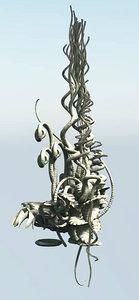 3D alien plant