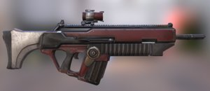 3D sci fi rifle advanced model
