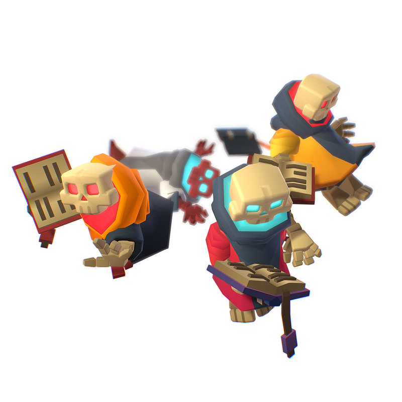 3D smashy craft skeleton mage model