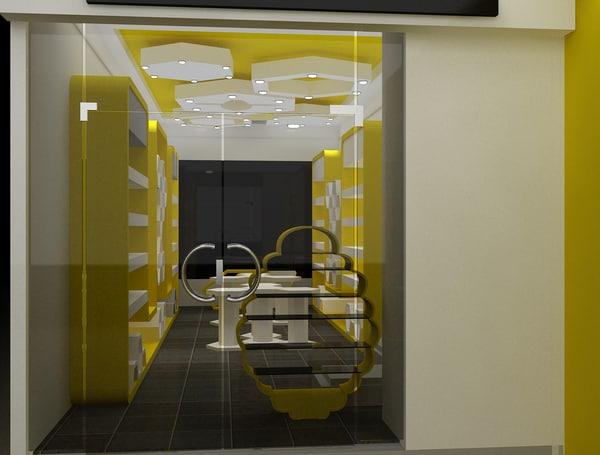 3D interior shop market