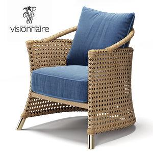 3D visionnaire coney island chair model