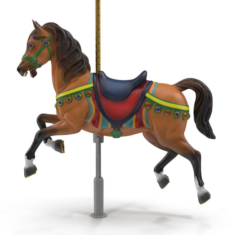 3D carousel horse v3