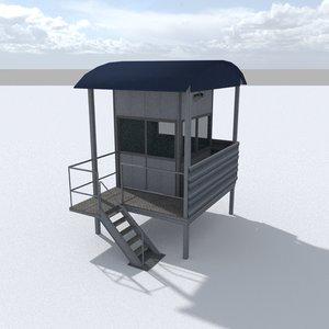 3D model racing track marshall stand
