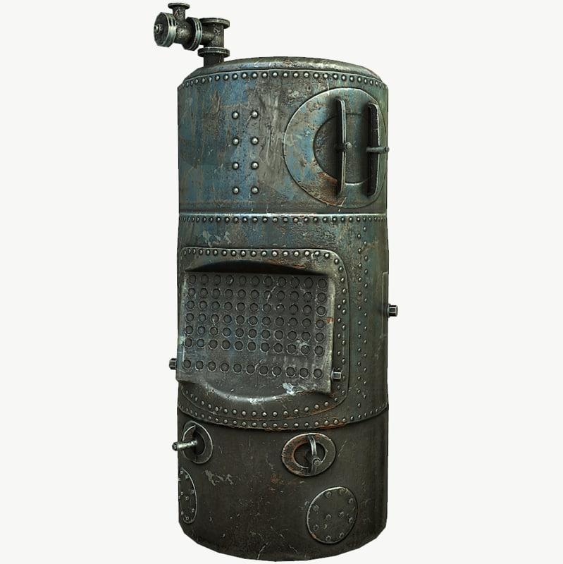 3D old boiler