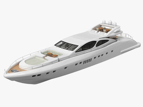 3D luxury yacht