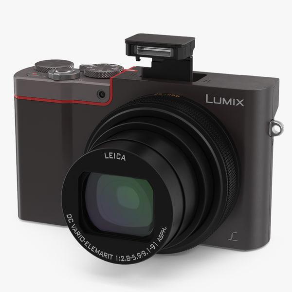 digital camera panasonic zs100 3D model