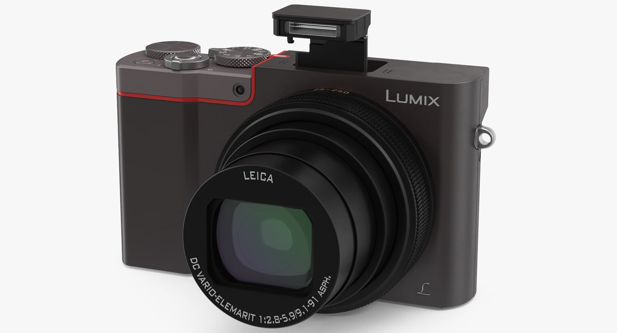 digital camera panasonic zs100 3D model