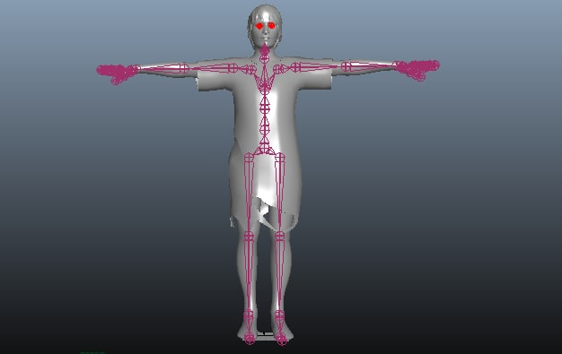 rigged zombie animation model