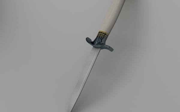 beautiful knife 3D
