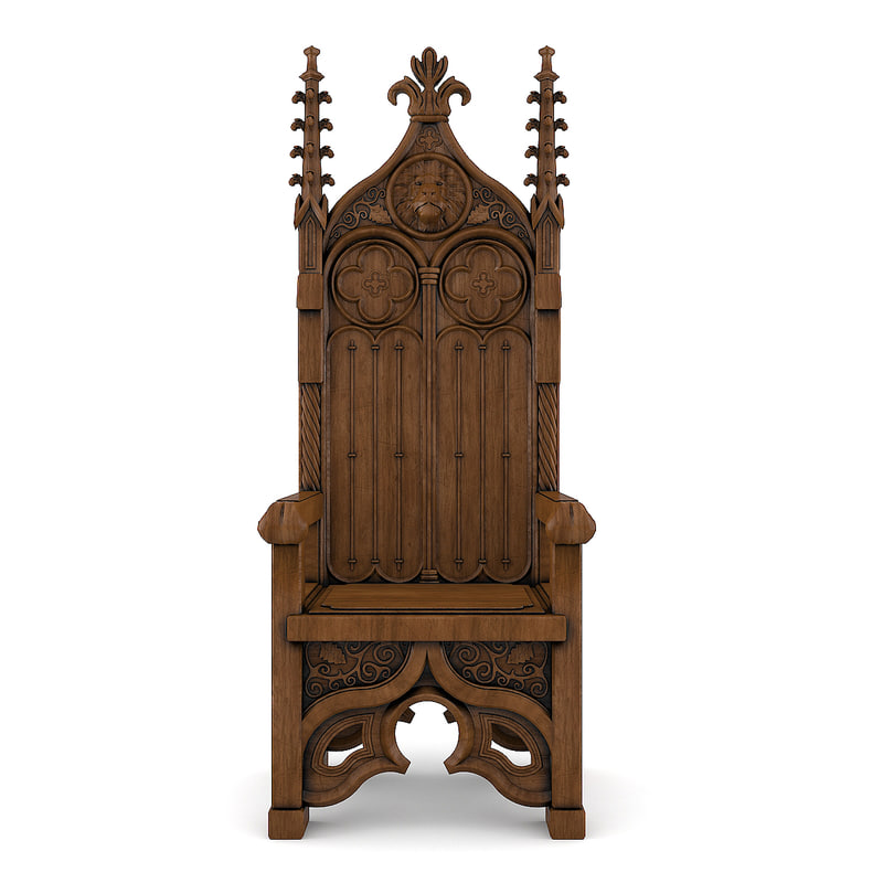 3D throne chaire