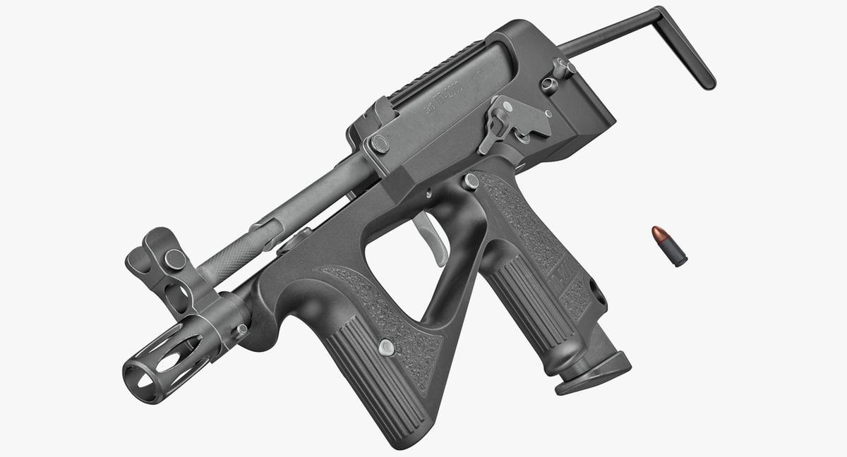 machine pistol pp-2000 smg 3D model
