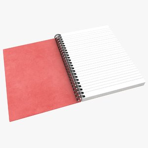 3D realistic open notebook