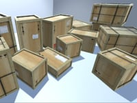 pack wooden crates 3D