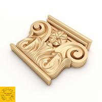 3D architectural corbel