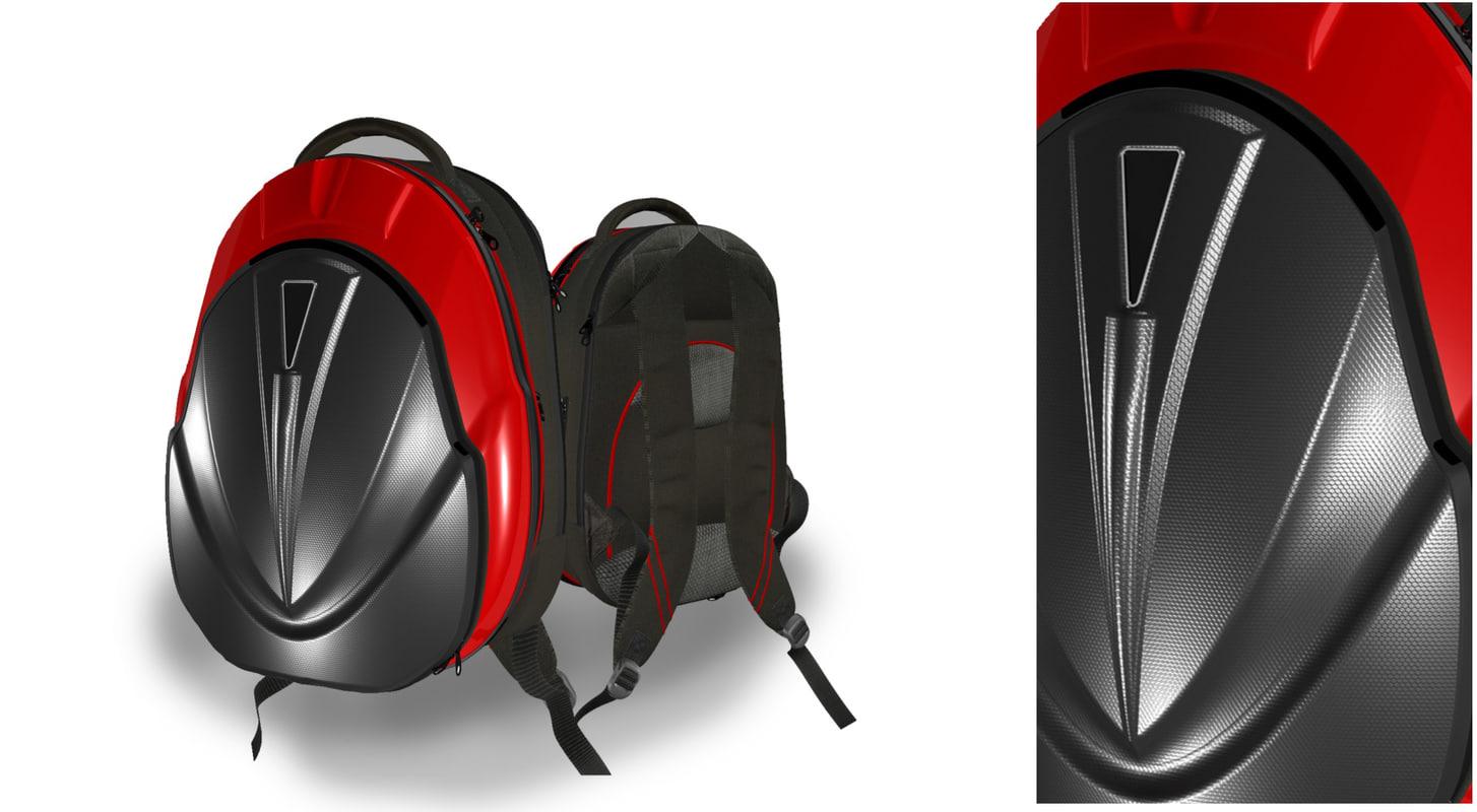 hybrid backpack 3D model