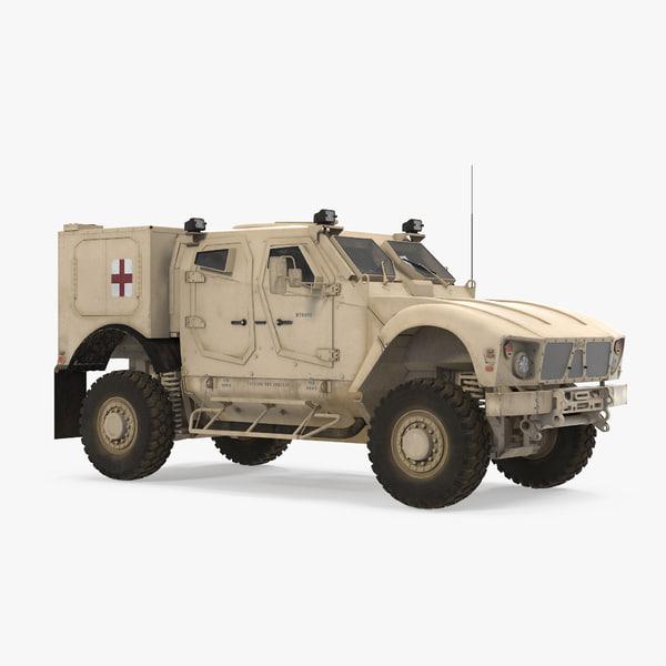 oshkosh m-atv medical vehicle 3D model