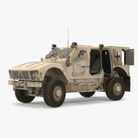 Oshkosh M-ATV Medical Vehicle Rigged 3D Model