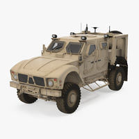 3D oshkosh m-atv resistant ambush model