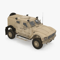 Oshkosh M-ATV Protected Military Vehicle 3D Model