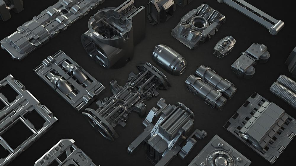 elements kit bashing 3D model