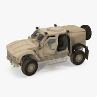 Oshkosh M-ATV Protected Military Vehicle Rigged 3D Model