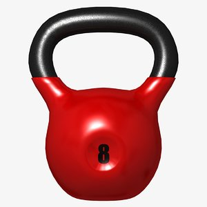 kettlebell uv mapped 3D model