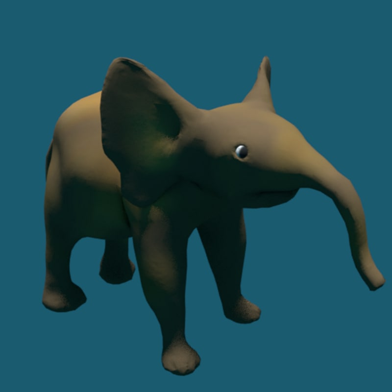 3D baby elephant model