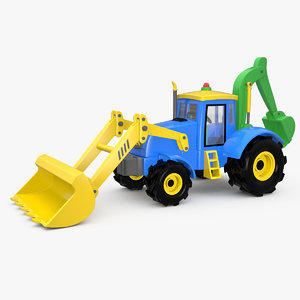 3D toy backhoe
