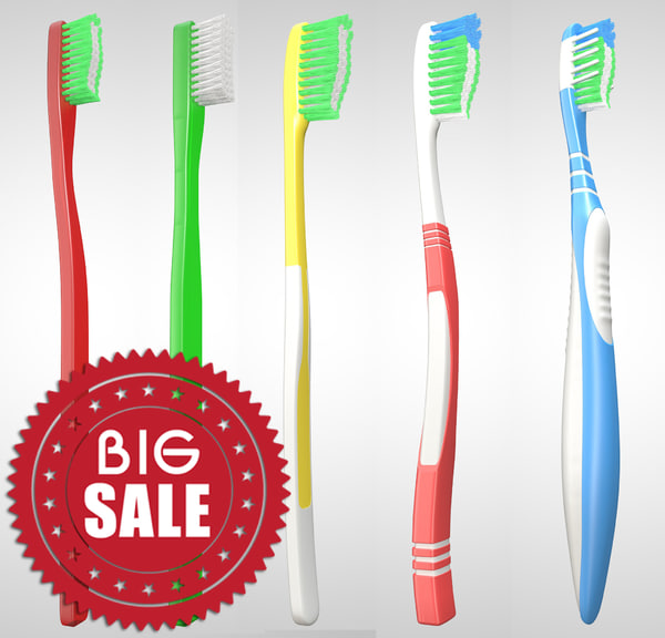 3D realistic toothbrush model
