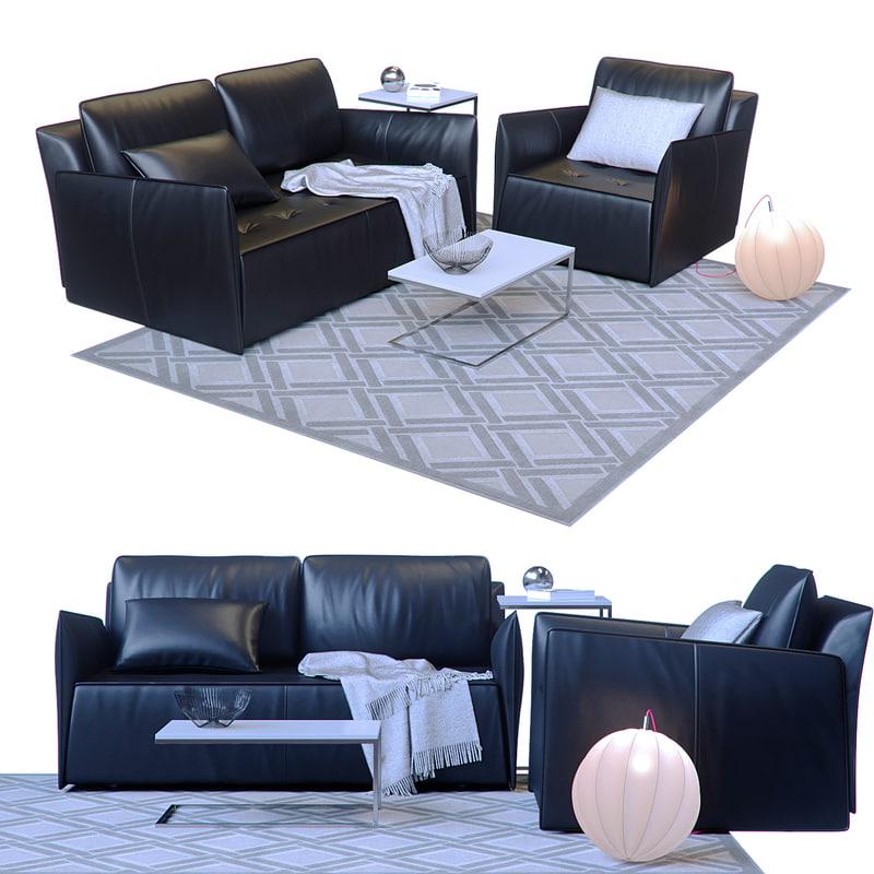 3D sofa bontempi casa