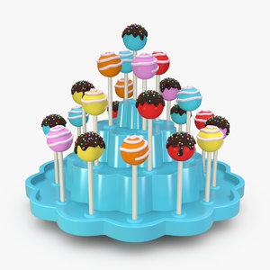 lollipop set 3D model