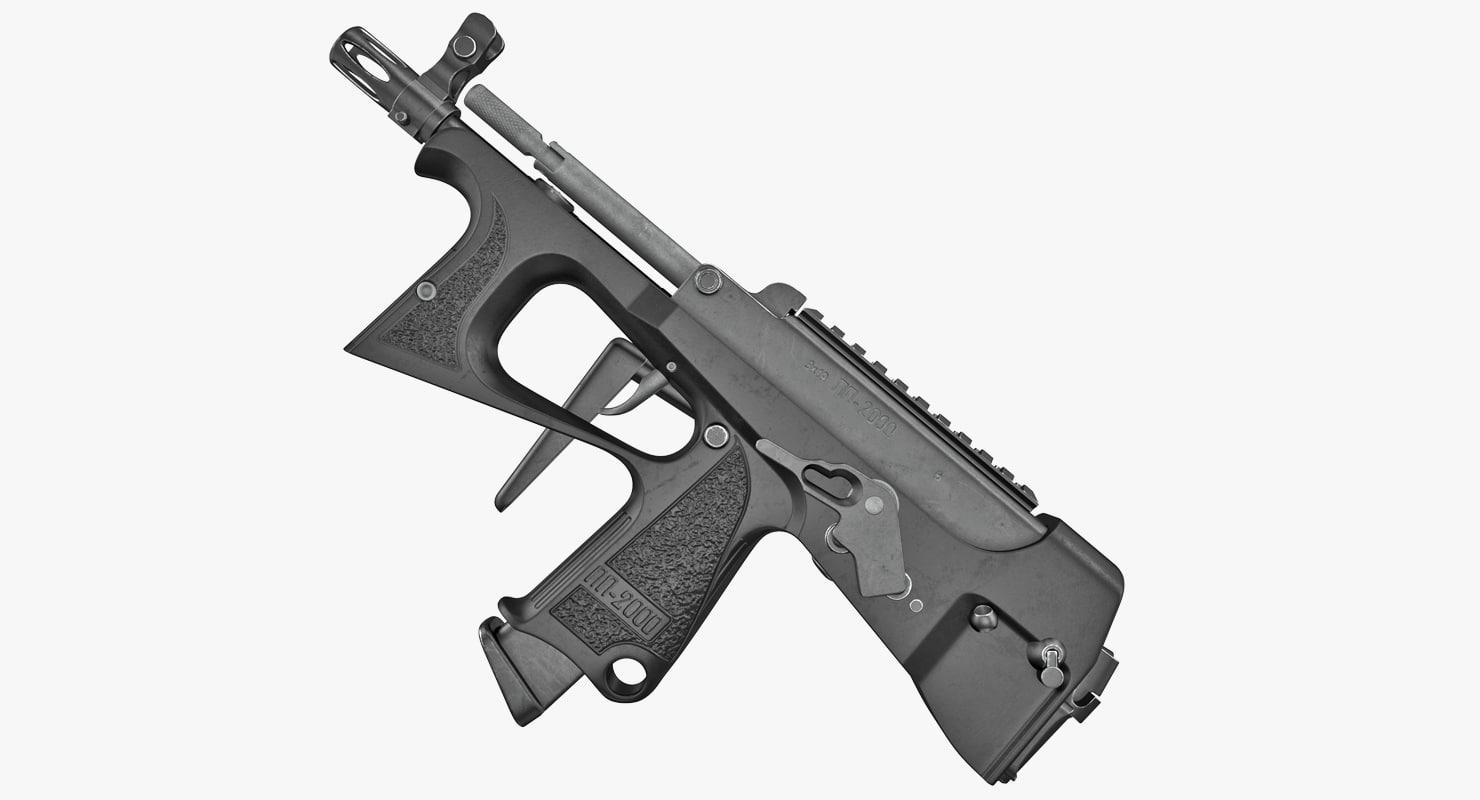 3D submachine gun pp 2000 model