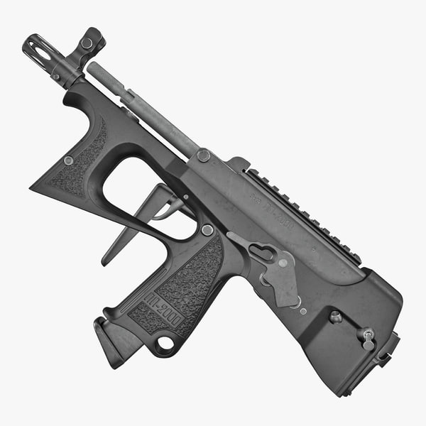 3D submachine gun pp 2000 model