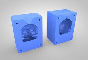 skull mold 3D model