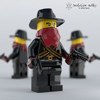 lego bandit figure model