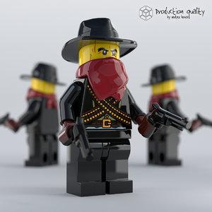 lego bandit figure model