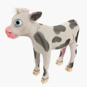 3D model cartoon calf