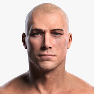 3D photorealistic man body human eyes
