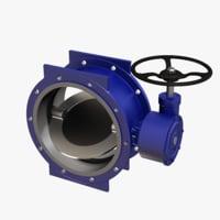 3D model gate valve dn 500