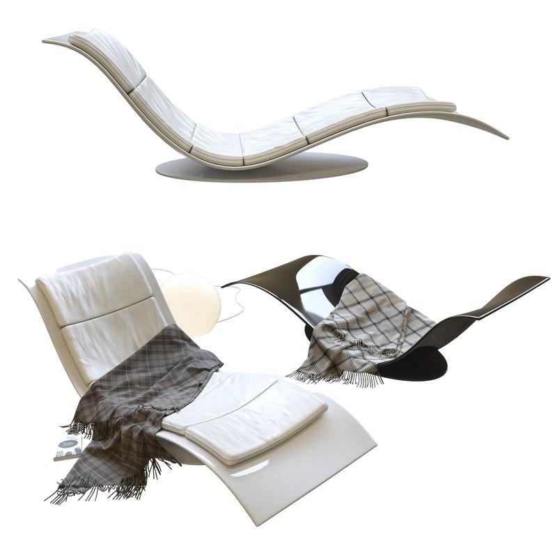 3D eli fly chaise longue model