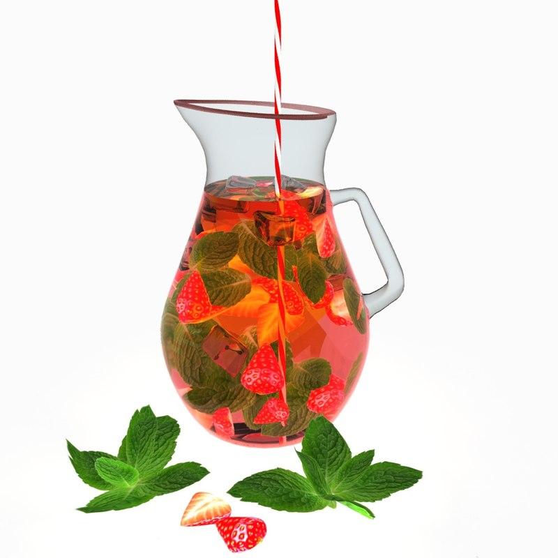 refreshing summer drink 3D model