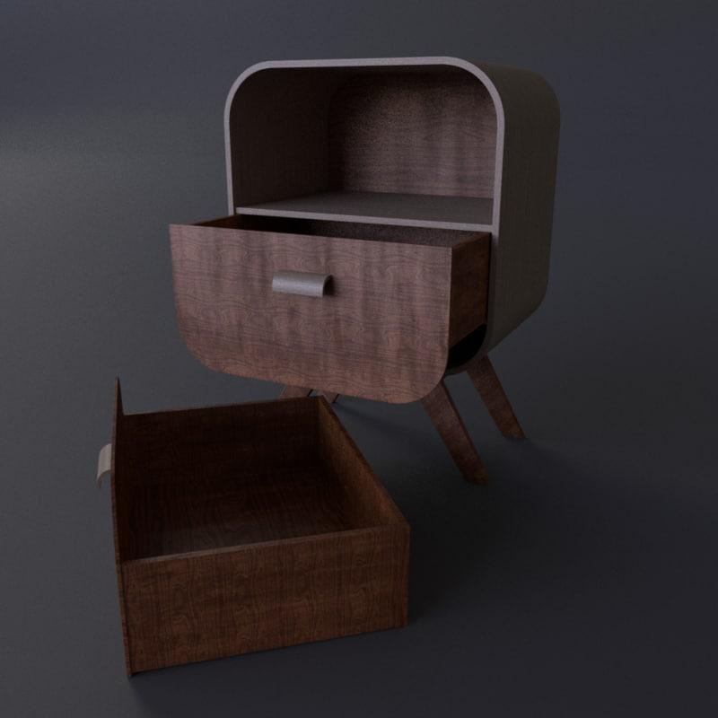 nightstand night 3D