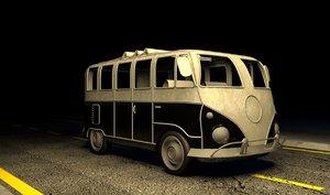 3D model van car vehicle