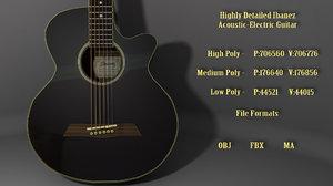 ibanez acoustic electric guitar 3D model