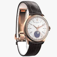 3D rolex cellini moonphase model
