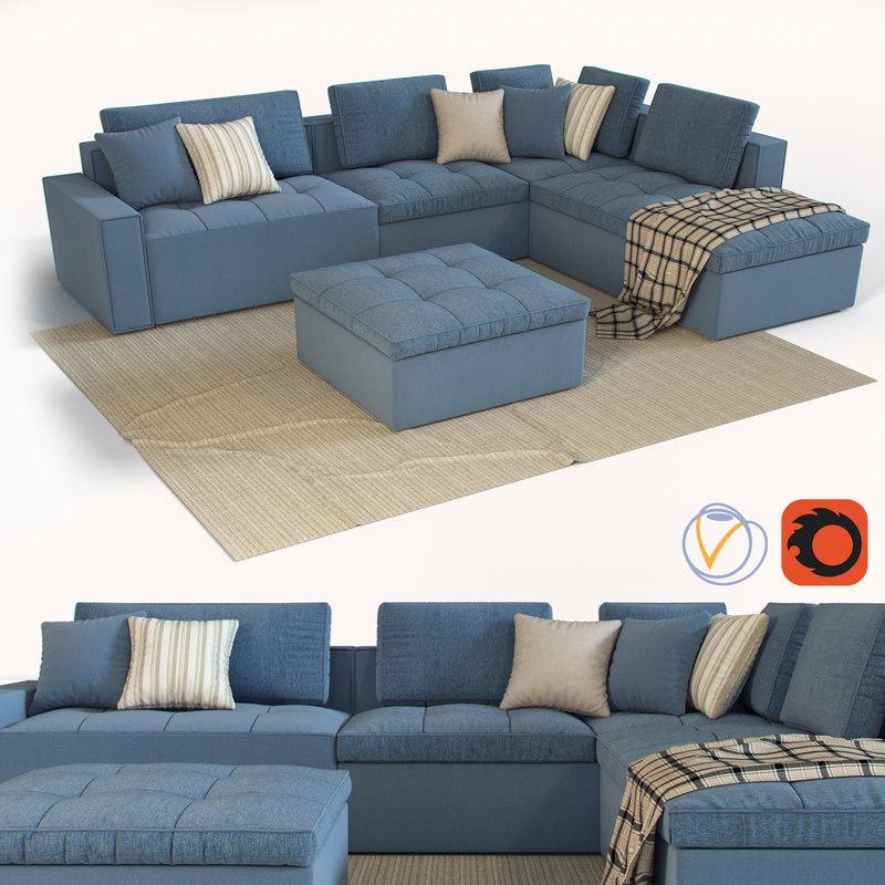 calligaris lounge mix 02 3D model